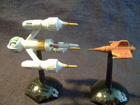 Liberator DSV2 and Federation Pursuit Ship