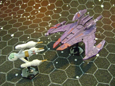 Jem 'Hadar Battle cruiser With DSV2 Liberator
