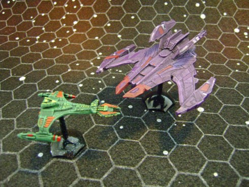 Jem 'Hadar Battlecruiser with Vor'cha