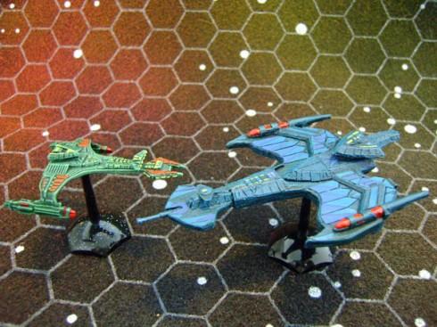 Klingon Negh'Var and Vor'cha