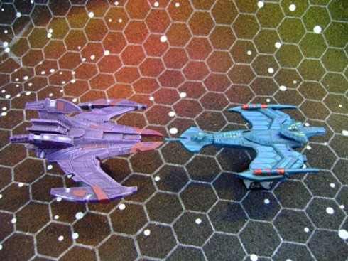 Klingon Negh'Var and Jem'Hadar Battle Cruiser