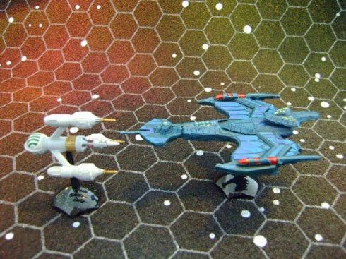Klingon Negh'Var and Liberator DSV2