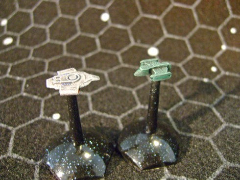 Romulan Scout with USS Defiant