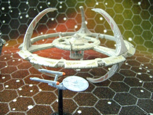 With 1/7000 scale TOS Enterprise
