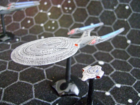 Sovereign Class with USS Defiant