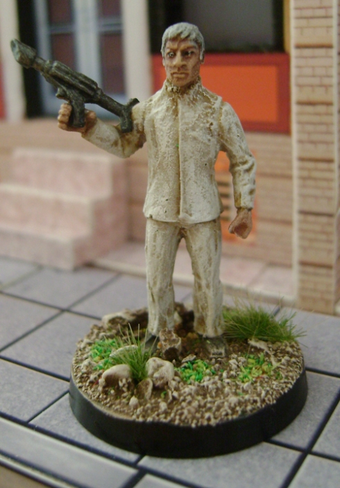 Ed Straker with Weapon